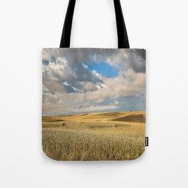 Iowa in November - Golden Corn Field in Autumn Tote Bag