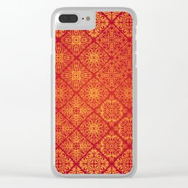 Floral luxury royal antique pattern Clear iPhone Case