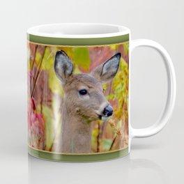 """Deer In The Fall Foliage"" by S. Michael Coffee Mug"