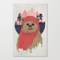 ewok Canvas Prints featuring Ewok by Robert Scheribel