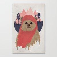 ewok Canvas Prints featuring Ewok by Robert Scheribel