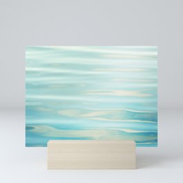 Water Ripples Photography, Aqua Blue Ocean Abstract Art, Turquoise Sea, Seascape Mini Art Print