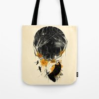 once upon a  time Tote Bags featuring Once Upon a Time by nicebleed