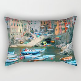 Italy. Cinque Terre marina Rectangular Pillow