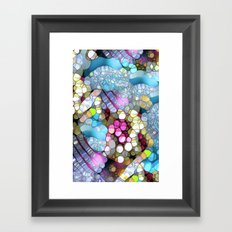Coctails at the pool. Framed Art Print