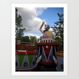 Over Grown Clown Ride Art Print