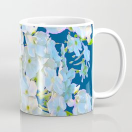 DELICATE TEAL & WHITE LACE FLORAL GARDEN Coffee Mug