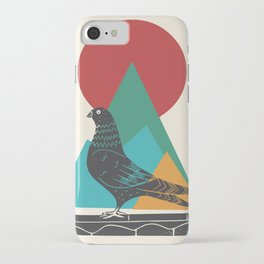Whimsical pigeon iPhone Case