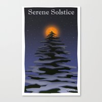 atheist Canvas Prints featuring Solstice by Donartoons