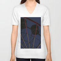 ferris wheel V-neck T-shirts featuring Ferris Wheel  by Yellow Tie