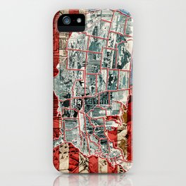 usa map urban city collage iPhone Case