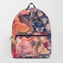 Collage flowers - geometrics Backpack