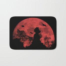 Red moon rock Bath Mat