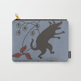 Black Dog Dancing in a Gorey Garden Carry-All Pouch