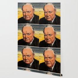 Winston Churchill Portrait Wallpaper