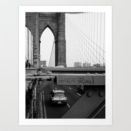 Follow the Bridge Art Print