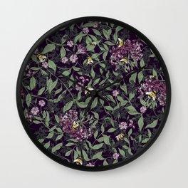 Joan Print-Dark Wall Clock
