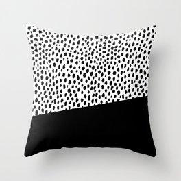 Dalmatian Spots with Black Stripe Throw Pillow