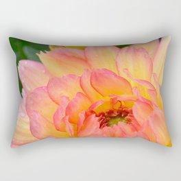 """Coral Tipped"" Dahlia by Teresa Thompson Rectangular Pillow"