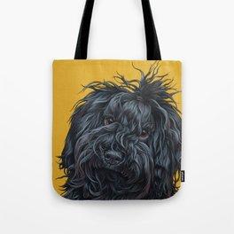 Sweet Puli Puppy Painting, Dreadlock Dog Art, Puli Dog Portrait Tote Bag