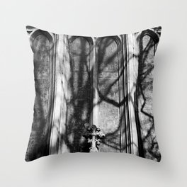Church Windows St Peters Basilica Black and White Photo by Larry Simpson Throw Pillow