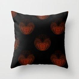 Orange Orb Throw Pillow