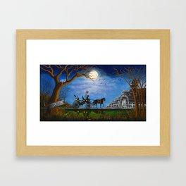 Halloween Honeymoon Framed Art Print
