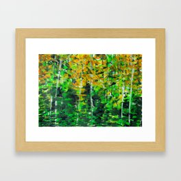 """Autumn Woodland"" Original Painting by Julia Barnickle Framed Art Print"