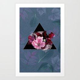 Oxblood Tulips Art Print