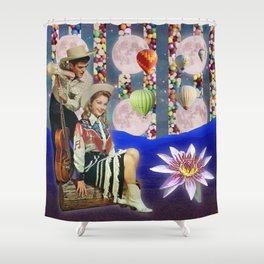 COW BOY AND COW GIRL Shower Curtain