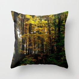 Autumn Yellow Throw Pillow