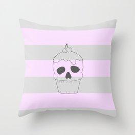 Skullcake big Throw Pillow