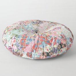 Toulouse map Floor Pillow