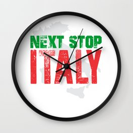 Next Stop Italy Wall Clock