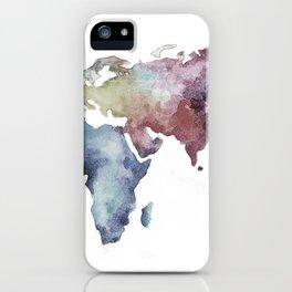 Lápiz Nómada World map iPhone Case