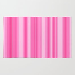 Pink Candy Stripe Rug
