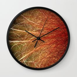 Linear Abstract2-Warm Colors Wall Clock