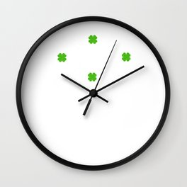 Lucky Irish Arrow Wall Clock