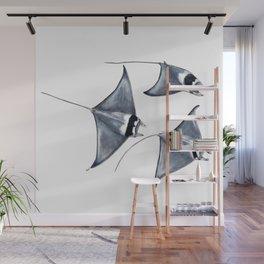 Devil fish Manta ray Mobula mobular Wall Mural