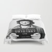 che Duvet Covers featuring Public Order Che Guevara by Maioriz Home