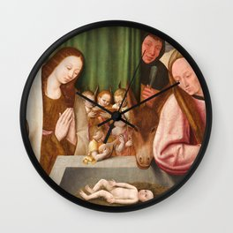 Nativity Painting - 16th Century Wall Clock