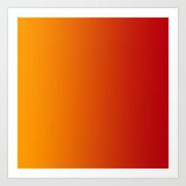 Red Orange Gradient Art Print
