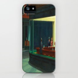Edward Hopper's Nighthawks iPhone Case