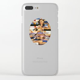 Glitch Pin-Up Redux: Sophia Clear iPhone Case