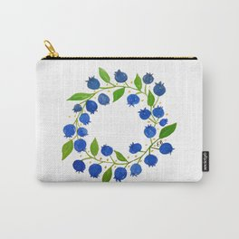 Blueberry Wreath Carry-All Pouch