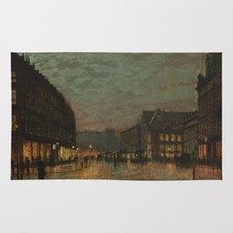 Boar Lane, Leeds, by lamplight Rug