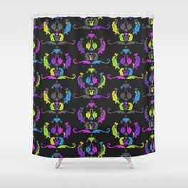 Damask Print Fluoro Shower Curtain