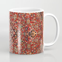 Kashan  Antique Central Persian Rug Print Coffee Mug