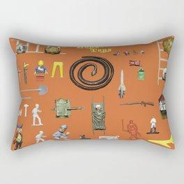 BoysToys Orange (old fashion) Rectangular Pillow