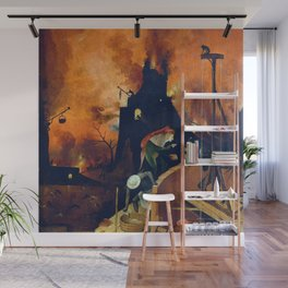 "Hieronymus Bosch ""The Haywain Triptych"" right panel Wall Mural"